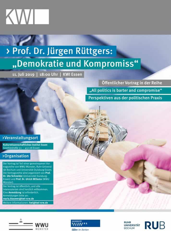 """Jürgen Rüttgers über """"Demokratie und Kompromiss"""""""