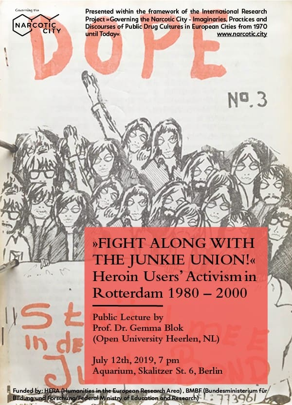 """Public Lecture: """"Fight along with the Junkie Union!"""""""