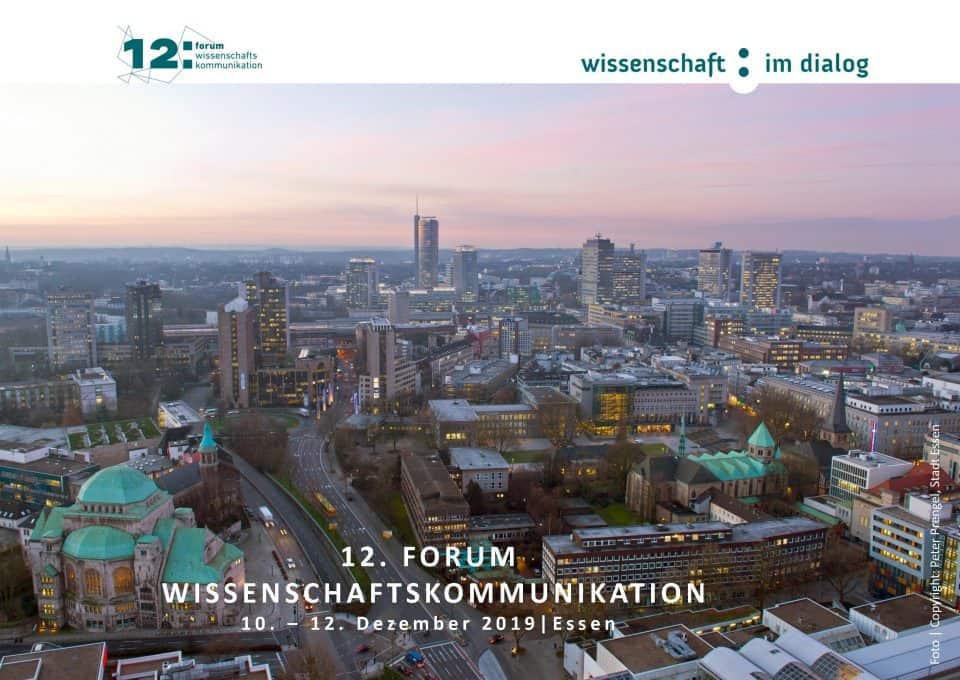 12. Forum Wissenschaftskommunikation. Copyright: Peter Prengel, Stadt Essen