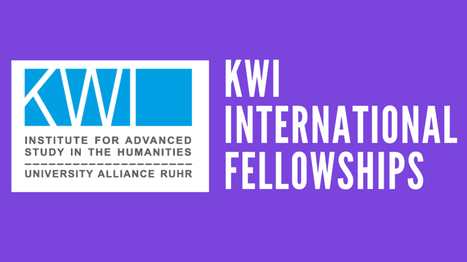 Call for Applications: New KWI International Fellowships & Thyssen@KWI Fellowship October 2021 – March 2022