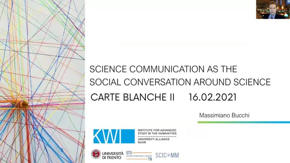 Massimiano Bucchi: Science Communication as the Social Conversation around Science