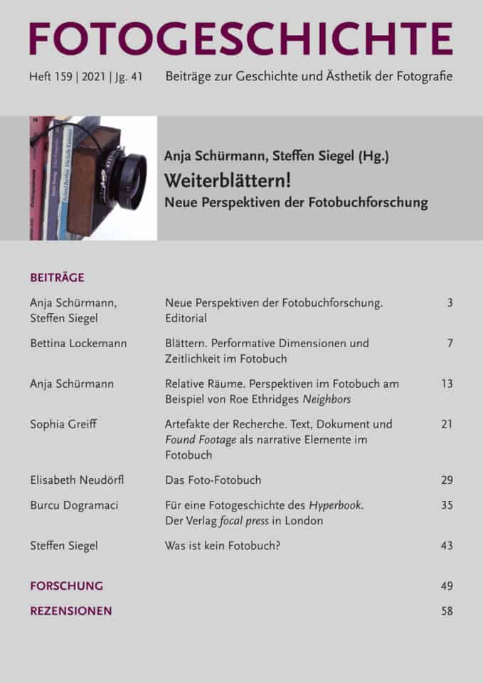Weiterblättern! Neue Perspektiven der Fotobuchforschung – Neues Heft der FOTOGESCHICHTE