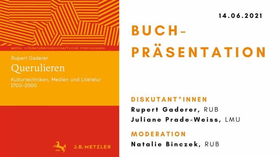 Querulieren. Kulturtechniken, Medien und Literatur 1700-2000 – Buchpräsentation mit Rupert Gaderer