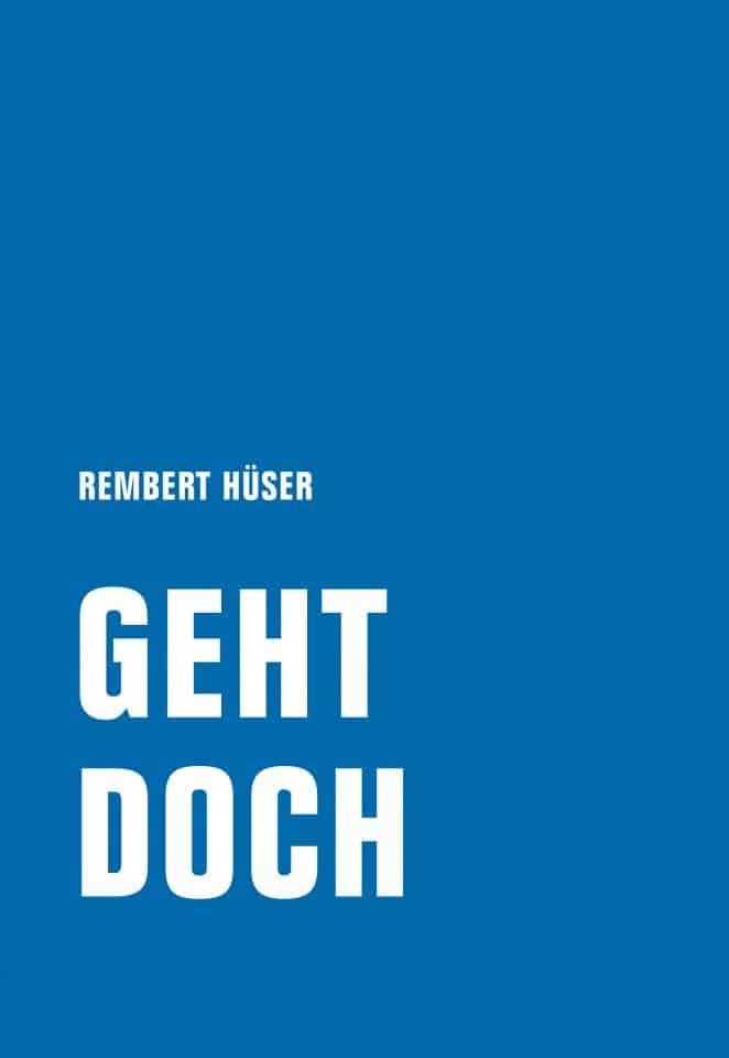 Buchcover Geht doch. © Verbrecher Verlag