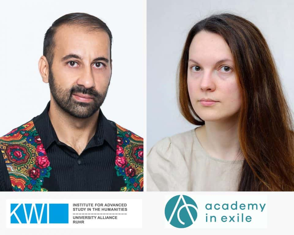 Two new Academy in Exile@KWI Fellows